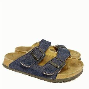 """Birkenstock """"Papillio"""" Denim Lined Sandals Sz 41"""